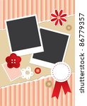 vintage frame for photos with... | Shutterstock .eps vector #86779357