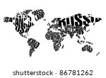 world map in typography | Shutterstock .eps vector #86781262