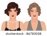 hairstyle and makeup of decades ... | Shutterstock .eps vector #86783038