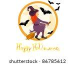 halloween poster   vector | Shutterstock .eps vector #86785612