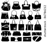 Female Purse Set Isolated On...