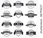 premium high quality sales free ... | Shutterstock .eps vector #86793217