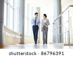 confident business partners... | Shutterstock . vector #86796391