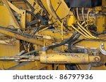 detail of a rundown construction machine - stock photo