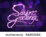 season's greeting greeting card ... | Shutterstock .eps vector #86803684