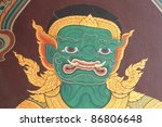thai temple wall paintings | Shutterstock . vector #86806648