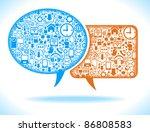 social network  communication... | Shutterstock .eps vector #86808583