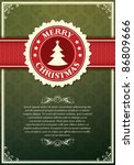 christmas background with label ... | Shutterstock .eps vector #86809666