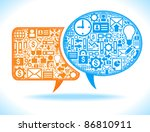 the concept of communication in ... | Shutterstock .eps vector #86810911