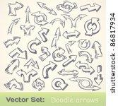 vector doodle funny arrows set | Shutterstock .eps vector #86817934