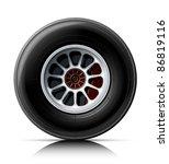 sports car wheel vector... | Shutterstock .eps vector #86819116