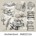 books stack | Shutterstock .eps vector #86822116