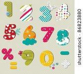 colorful  numbers set | Shutterstock .eps vector #86823880