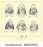 hand drawn illustration set ... | Shutterstock .eps vector #86835052