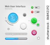 web user interface elements of... | Shutterstock .eps vector #86842192