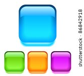 vector glass square buttons ... | Shutterstock .eps vector #86842918