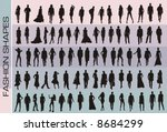fashion vector shapes | Shutterstock .eps vector #8684299