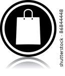 vector shopping bag icon | Shutterstock .eps vector #86844448