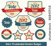 retro presidential election... | Shutterstock .eps vector #86845918