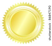 gold seal | Shutterstock .eps vector #86847190