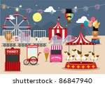 fun fair vector illustration | Shutterstock .eps vector #86847940
