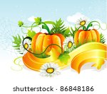 pumpkin vector illustration | Shutterstock .eps vector #86848186