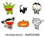 funny kids  56   halloween... | Shutterstock .eps vector #86850088