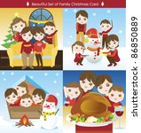 big collection of happy family... | Shutterstock .eps vector #86850889