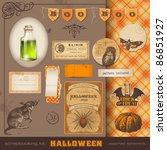scrapbooking kit  halloween  ... | Shutterstock .eps vector #86851927