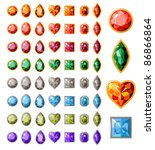 big collection of different... | Shutterstock .eps vector #86866864