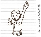 doodle sketchy football referee ... | Shutterstock .eps vector #86868130