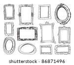 collection of 12 picture frames ... | Shutterstock .eps vector #86871496