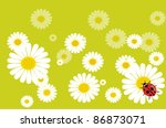 meadow with daisies and... | Shutterstock .eps vector #86873071