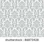 raster seamless floral damask... | Shutterstock . vector #86873428
