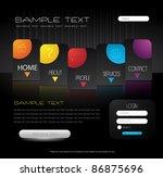 stylized web design template | Shutterstock .eps vector #86875696