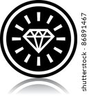 vector diamond icon | Shutterstock .eps vector #86891467