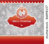 christmas card | Shutterstock .eps vector #86898157