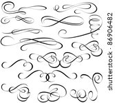 calligraphic elements   black... | Shutterstock .eps vector #86906482