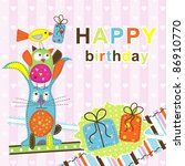 template birthday greeting card ... | Shutterstock .eps vector #86910770
