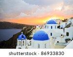 beautiful sunset after a storm... | Shutterstock . vector #86933830