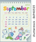 Calendar For September 2012....