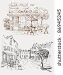 street cafe | Shutterstock .eps vector #86945245