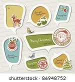 christmas gift tag | Shutterstock .eps vector #86948752
