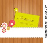 Vintage Invitation Card With...