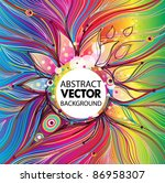 vector abstract background | Shutterstock .eps vector #86958307