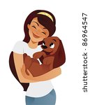 Stock vector pampered pet 86964547