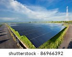 Solar Power Station In Blue Sky