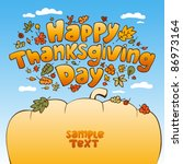 happy thanksgiving day card. | Shutterstock .eps vector #86973164