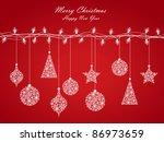 background of christmas lights  ... | Shutterstock .eps vector #86973659