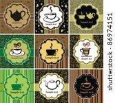 Set Of Tea Cards Template....